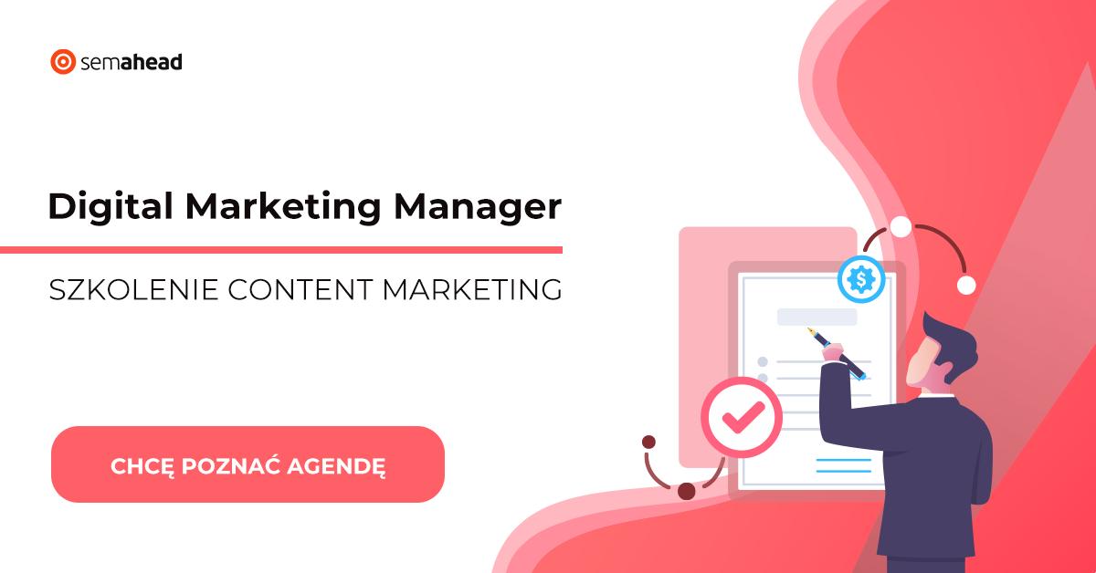 Innowacyjny kurs PRZEkwalifikacja - Content Marketing